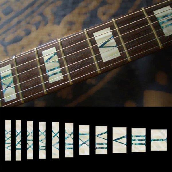 Купить перламутровые блоки на гриф гитары с римскими цифрами