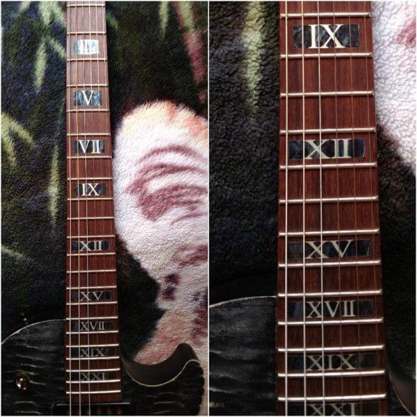 Римские цифры на лады гитары