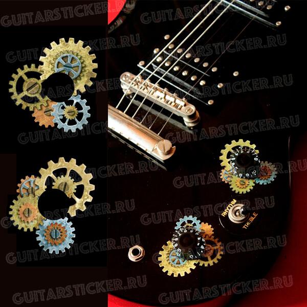 Купить виниловые наклейки на ручки громкости гитары