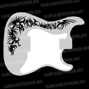 Красивая наклейка-тату на деку гитары