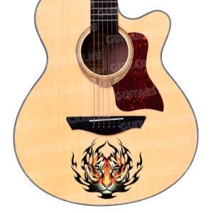 Наклейка тигр на гитару