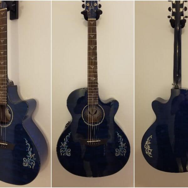 Красивые инкрустации на деку гитары
