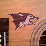 Купить виниловую наклейку с волком для деки гитары