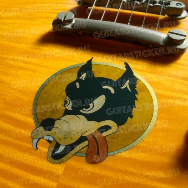 Купить наклейку волк на деку гитары