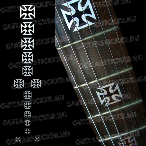 Купить наклейки на лады гитары в виде железных крестов