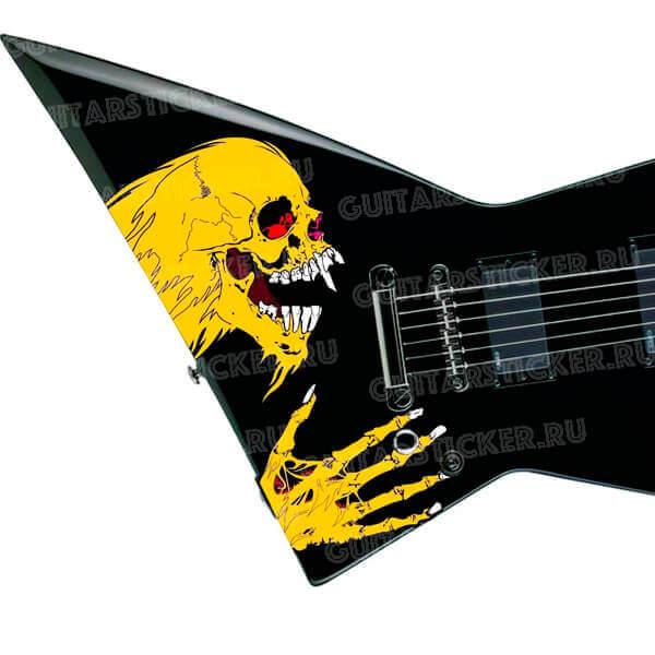 Череп Metallica на деку гитары