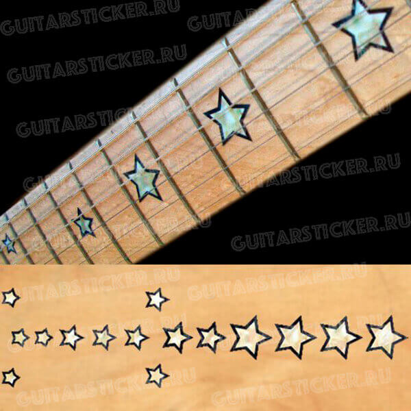 Купить перламутровые звезды на гриф гитары