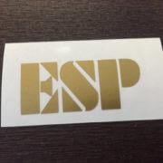 ESP наклейка золотистого цвета