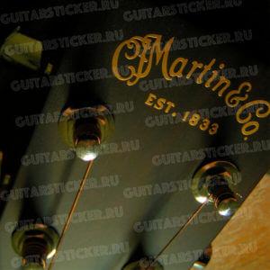 Оригинальная наклейка C.F. Martin & Co на головку грифа гитары