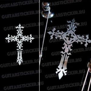 Наклейка готический крест на гитару
