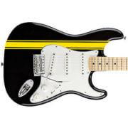 Приклеить полоски на гитару