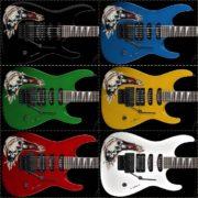 Купить наклейки с черепами для гитары