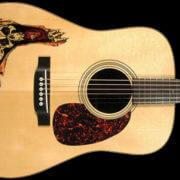 Купить наклейку Двойной череп для акустической гитары