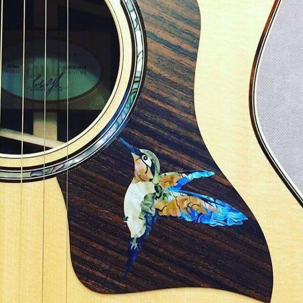 Купить гитарную наклейку колибри
