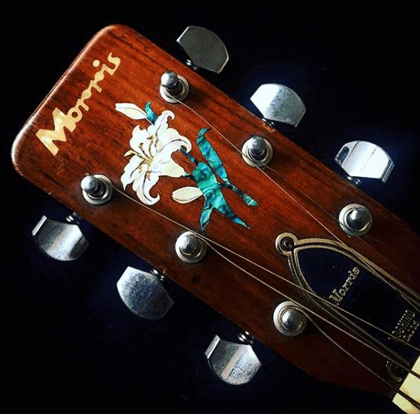 Купить наклейку на гитару лилия на головку грифа