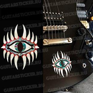 Наклейка на деку гитары в виде глаза