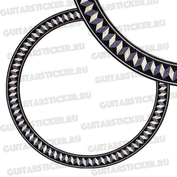 Купить узкую наклейку на резонатрное отверстие гитары