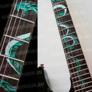 Купить комплект змей наклейки на гриф гитары