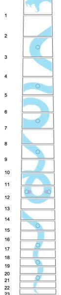 Схема наклейки эскиз змей
