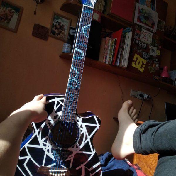 Купить змею на гитару наклейки на лады гитары