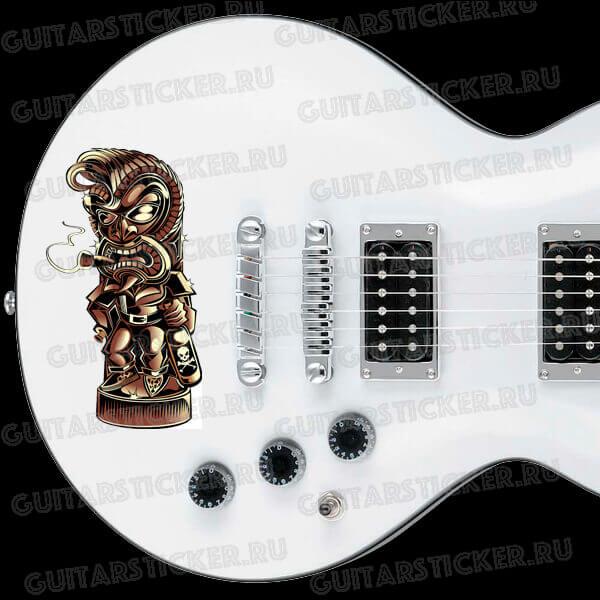 Наклейка рок-тотем на деку гитары