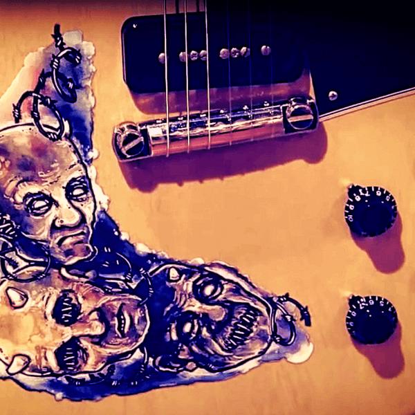 Потрясающие наклейки для гитары Легион зомби