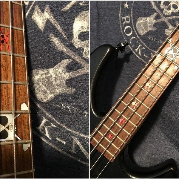 Купить наклейки в виде черепов на гриф бас-гитары