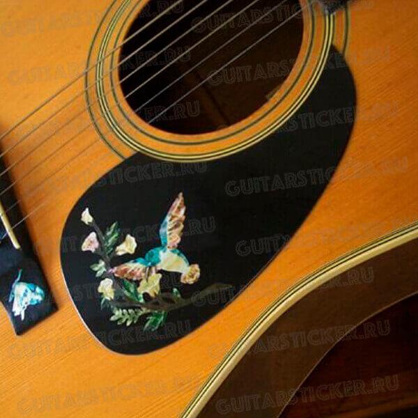 Наклейки колибри на гитару