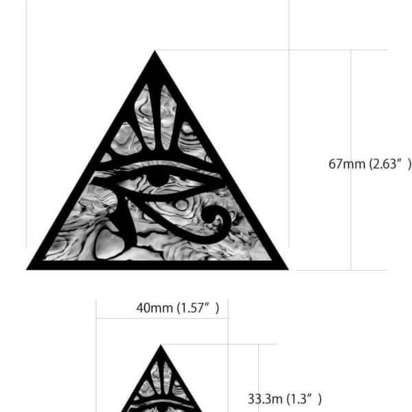 Размеры наклейки пирамиды на гитару