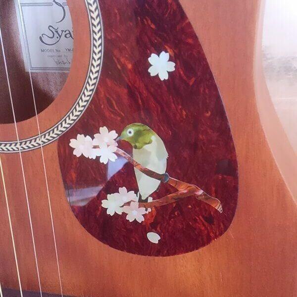 Наклейка соловей на пикгард акустической гитары