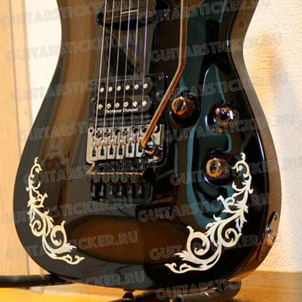 Купить наклейку для гитары готический орнамент