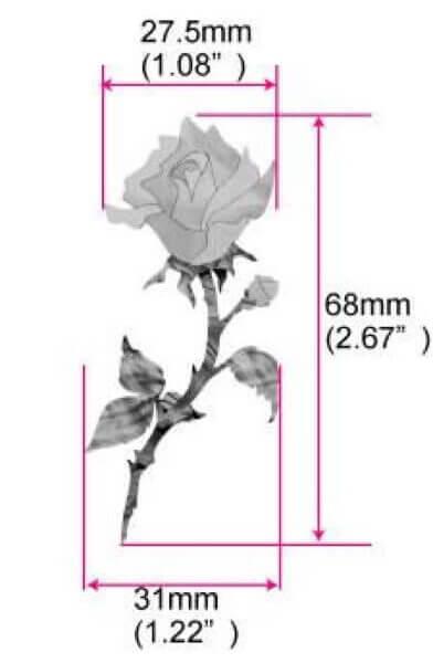 Размеры наклейки одиночная роза