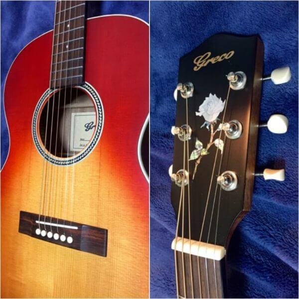 Купить наклейку в виде розы на головку грифа гитары