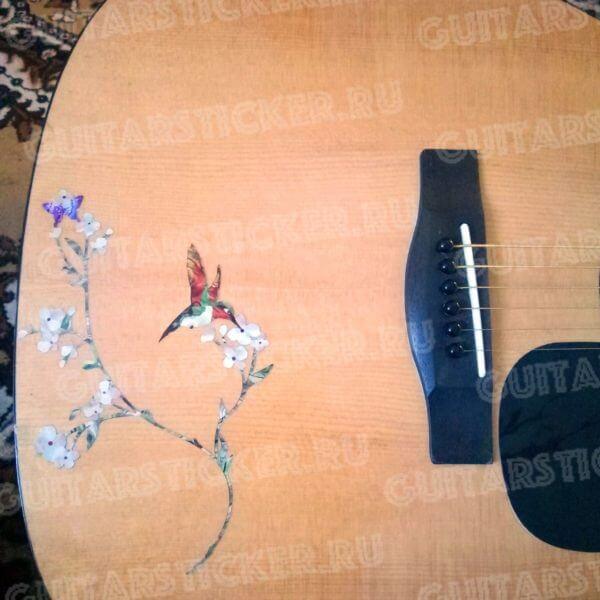 Украсить гитару птичками