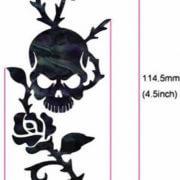 Размеры наклейки череп и роза
