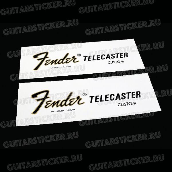 Купить декаль для телекастера Fender Custom Telecaster 1968-1975 1