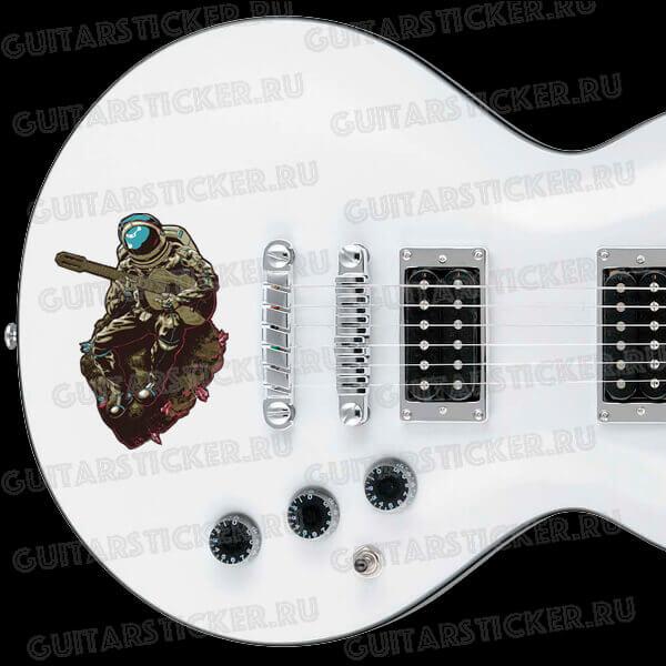 Купить виниловую наклейку гитариста космонавта