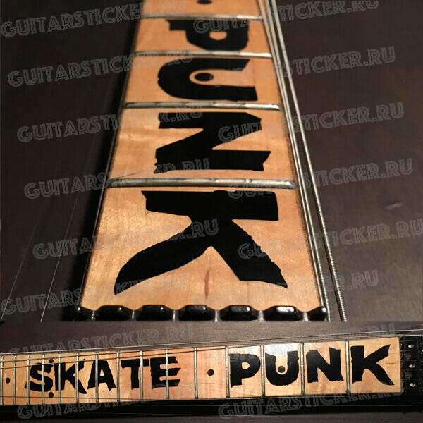 Наклейки скейт панк на гитару