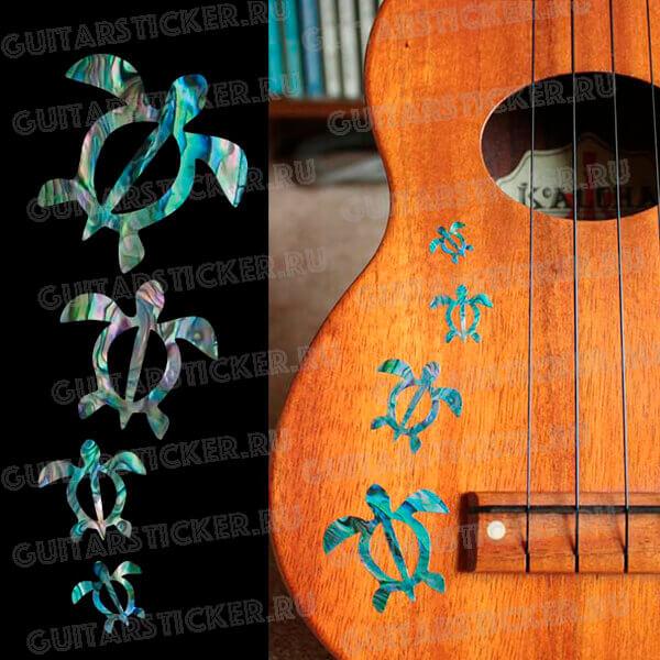 Купить наклейки черепашки для укулеле или гитары