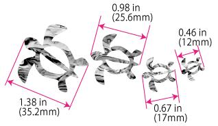 Размеры наклеек черепашки на укулеле
