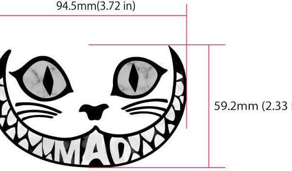 Размеры наклейки чеширский кот