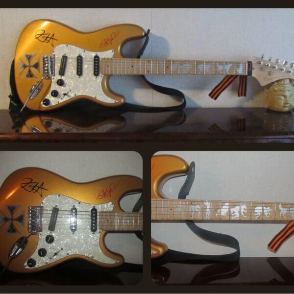 Хэтфилд Железный крест на гитаре как выглядет