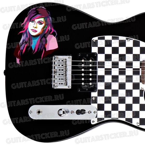 Наклейки Аврил Лавин (Avril Lavigne) для гитары