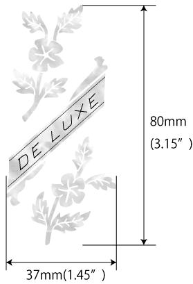 Размеры наклейки De Luxe Flowers
