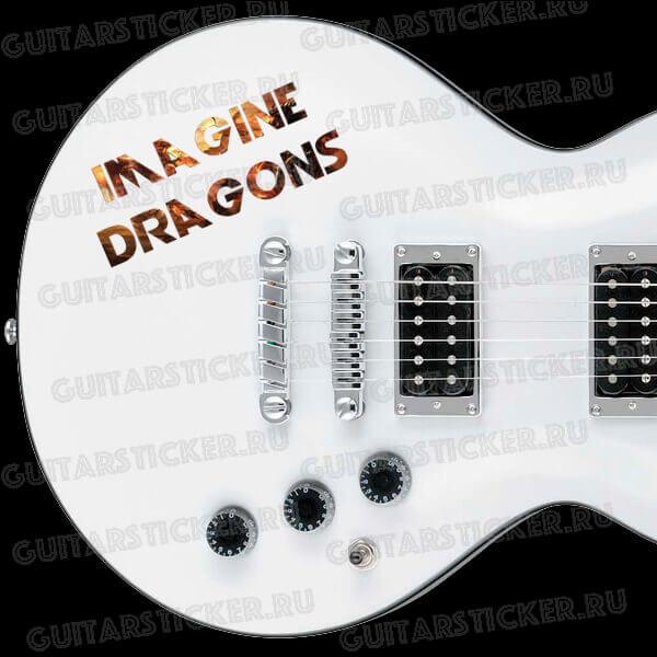 Рок-стикер imagine-dragons. Купить наклейки imagine-dragons