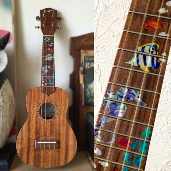 Наклейки на укулеле в морском стиле