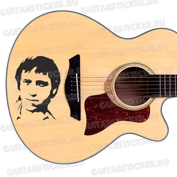 Купить наклейку портрет Владимира Высоцкого для гитары