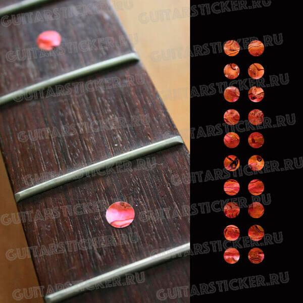 Красный абалон точки на гриф купить в России