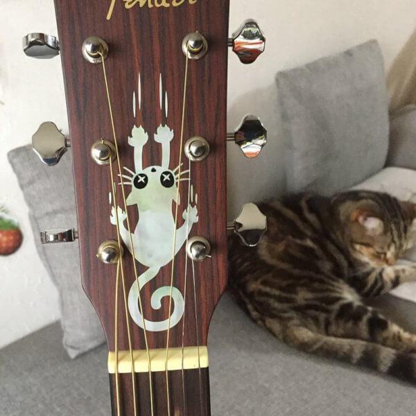 Купить наклейки с котиками для гитары