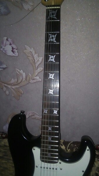 Metallica наклейки на гриф гитары